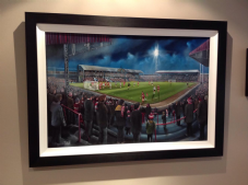 Middlesbrough Ayresome Park 1974/75 v Newcastle Utd   Original artwork in oils 51cm x 76cm